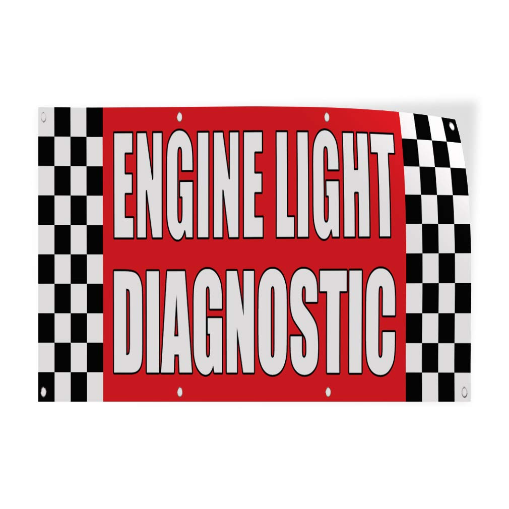 Decal Sticker Multiple Sizes Engine Light Diagnostic Auto Body Shop Car Automotive Check Engine Light Outdoor Store Sign Red 30inx20in Set of 10
