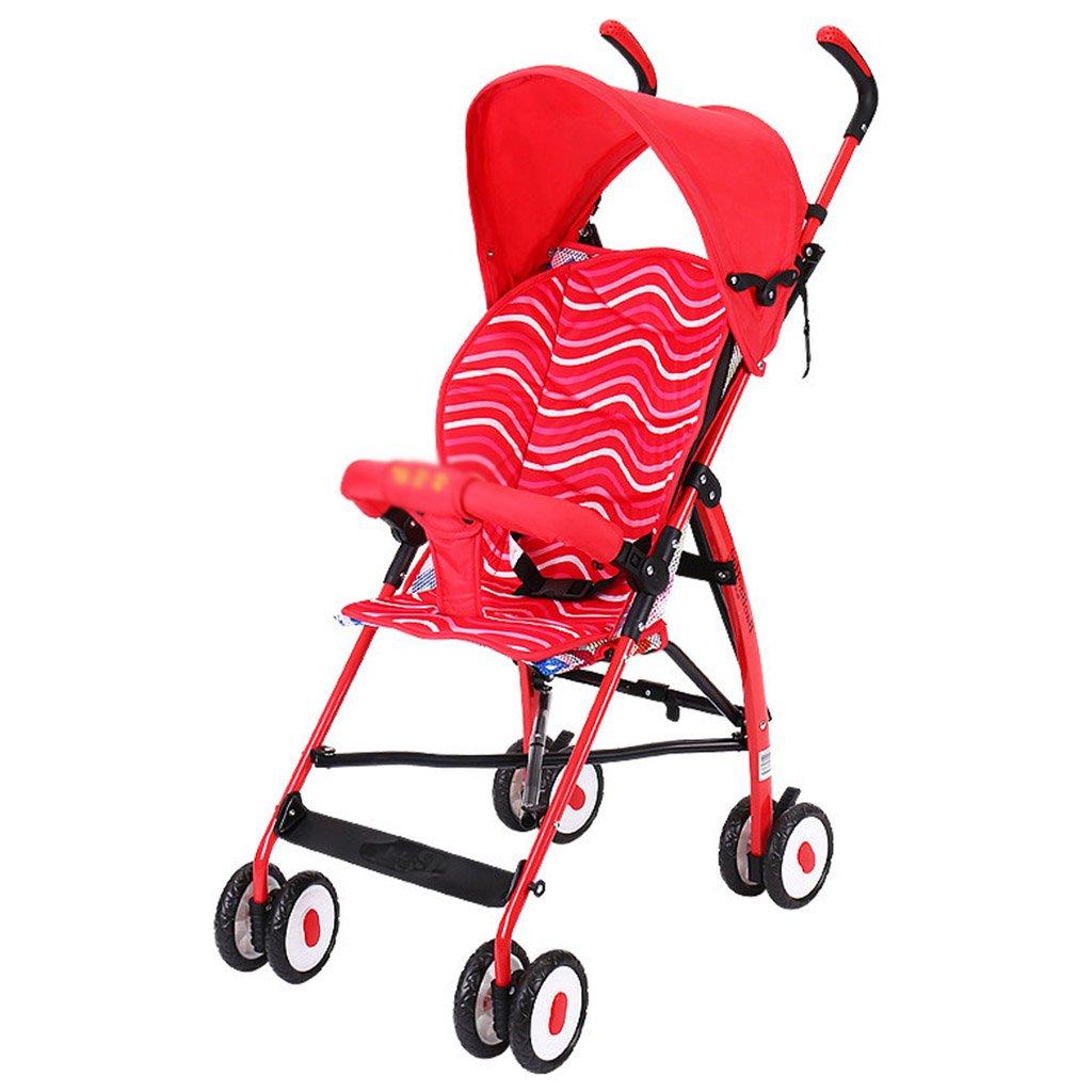 ERRU- 夏の赤ちゃんトロリー/超軽量ポータブル折りたたみ子供のトロリー(色はオプション) 軽量 (色 : 赤)  赤 B07CMCS1TJ