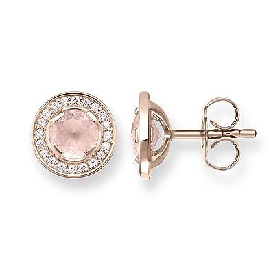 Thomas Sabo Damen-Ohrringe Ohrstecker Glam   Soul Luna 925 Sterling Silber  750 rosegold vergoldet Zirkonia weiß Rosenquarz pink H1858-417-9   Amazon.de  ... cb59cfb6d5