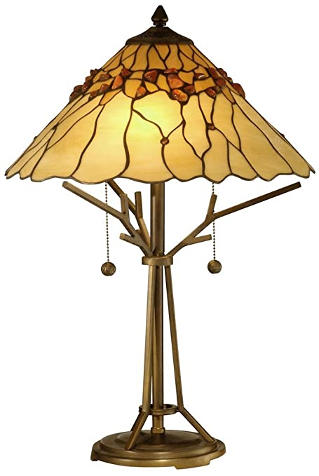 Dale Tiffany TT10598 Branch Base Tiffany Table Lamp, Antique 16u0026quot; X  16u0026quot; ...