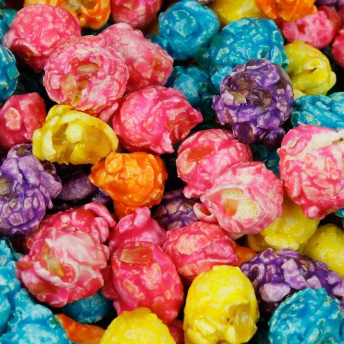 Caramel Coated Popcorn (Rainbow Color Fruity Caramel Popcorn, 1 Lb) (Colorful Popcorn compare prices)