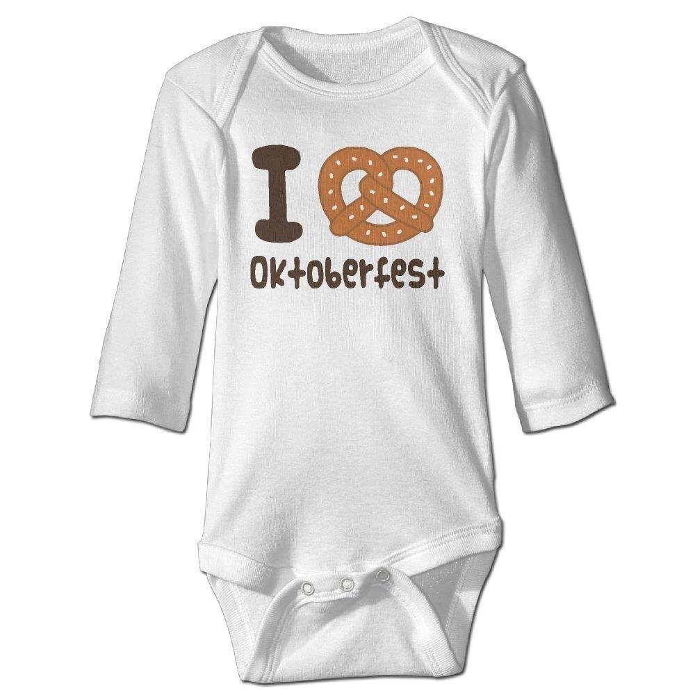 Baby I Love Oktoberfest Long Sleeve Romper Onesie Bodysuit Jumpsuit