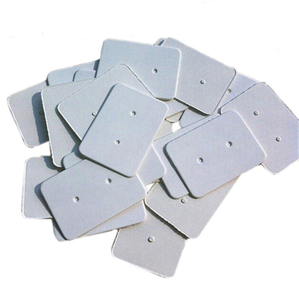 display08-100 soportes tipo tarjeta para colgar pendientes 25 x 35 mm