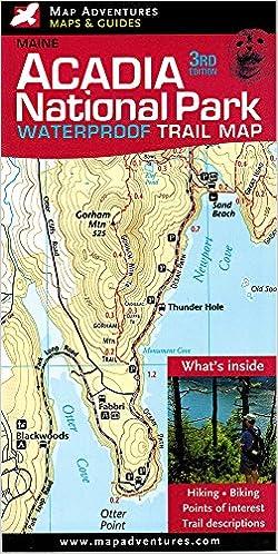 Acadia National Park Waterproof Trail Map, Maine: Jill Keefe, Steven ...