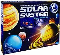 4M 3-Dimensional Glow-In-The-Dark Solar System Mobile Making Kit