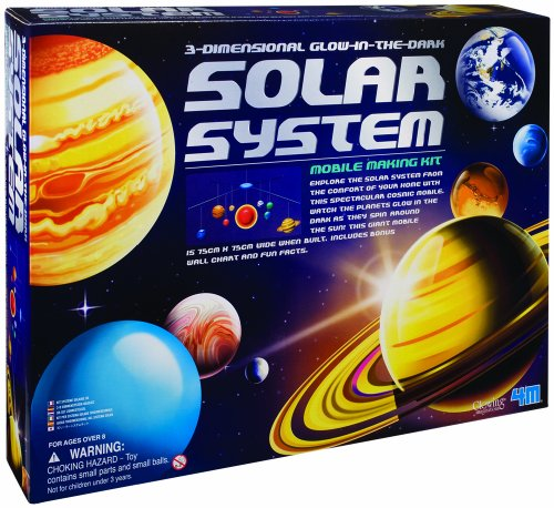 4M 3-Dimensional Glow-In-The-Dark Solar System Mobile Making (Astronomy Kits)