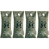 Air Purifiers by ZooBamboo (4 x 75g) | Bamboo Charcoal Shoe...