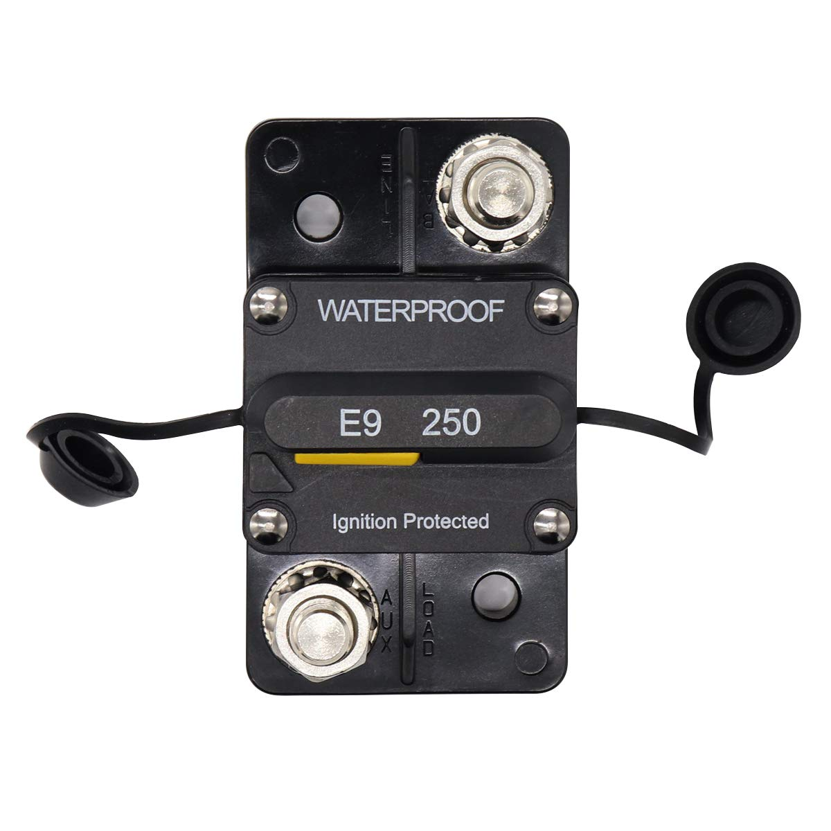 250 Amp Surface-Mount Circuit Breakers with Manual Reset, 12V- 48V DC, Waterproof