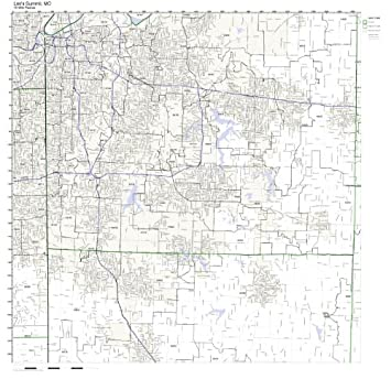 Amazon.com: Lee\'s Summit, MO ZIP Code Map Not Laminated: Home & Kitchen