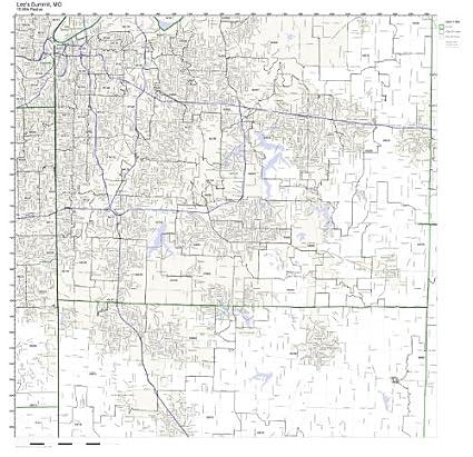 Summit County Zip Code Map.Amazon Com Lee S Summit Mo Zip Code Map Laminated Home Kitchen