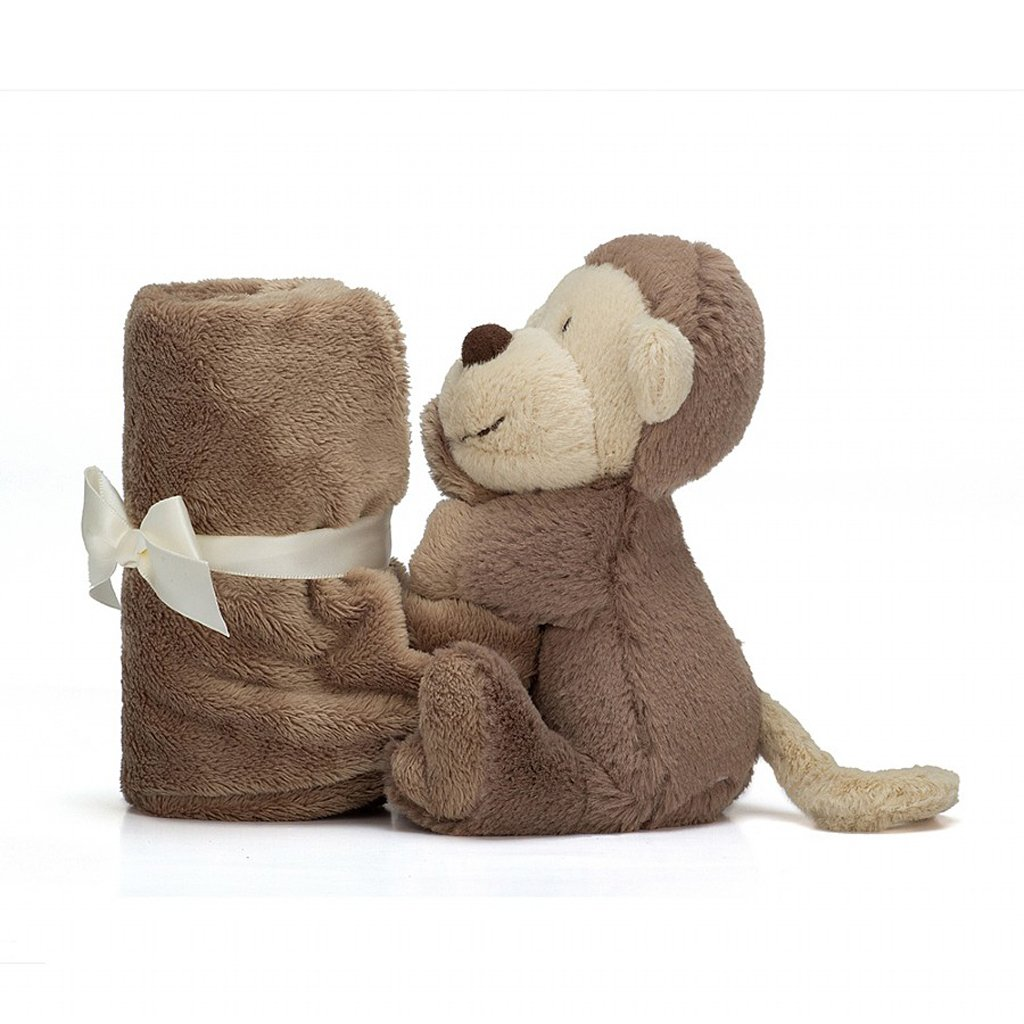 Jellycat Bashful Monkey Soother Security Blanket