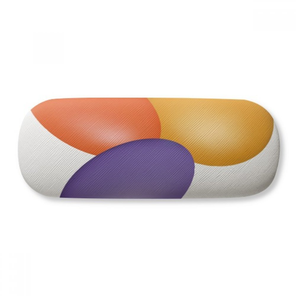 Pill Illustration Health Care Products Pattern Glasses Case Eyeglasses Clam Shell Holder Storage Box