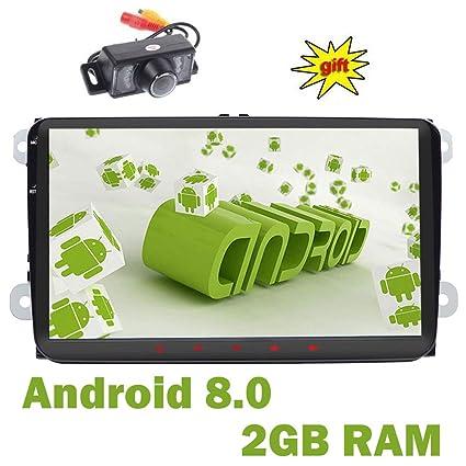 doble Din GPS estéreo 9 pulgadas,sistema Android 8.0,2GB RAM 16GB ROM coche