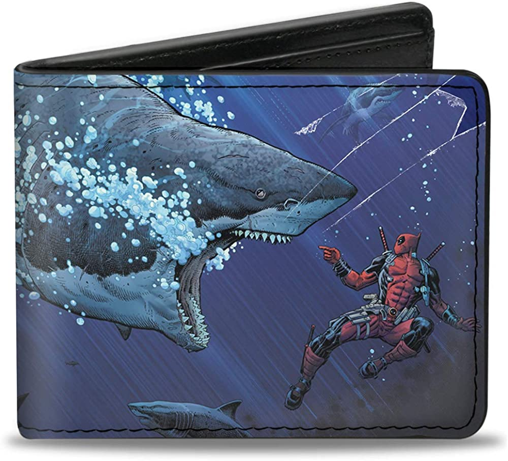"Buckle-Down Men's Bifold Wallet Deadpool, 4.0"" x 3.5"""
