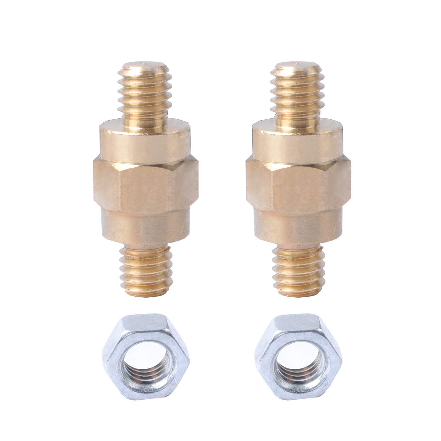 Side Post Battery Terminal Bolt for Compatible with GM and Other Accessories to Battery, Standard Battery Post Extender Extension Screws 3/8 16 Stud Bolts