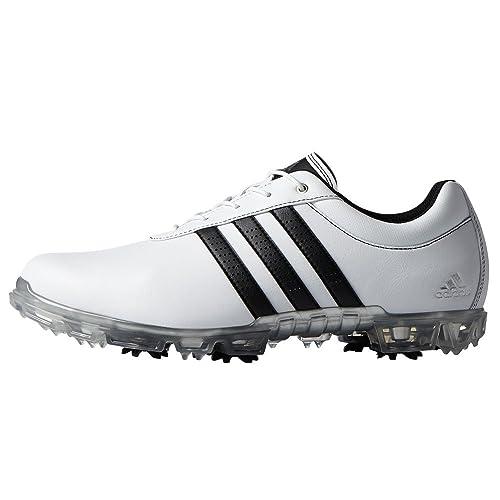 sale retailer f21fb f5af0 adidas Adipure Flex WD, Zapatos de Golf para Hombre, Blanco Negro Plata, 44  EU  Amazon.es  Zapatos y complementos