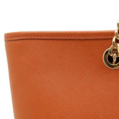 Michael Kors Jet Set Travel Chain Top-zip Multifunctional - Bolso de hombro Mujer naranja