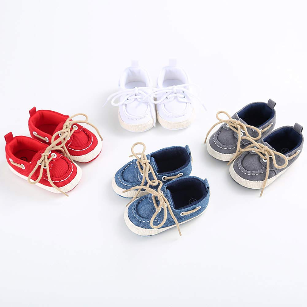 Red 11cm Alamana Fashion Newborn Infant Baby Girls Boys Soft Anti-Slip Prewalker Toddler Shoes Gift