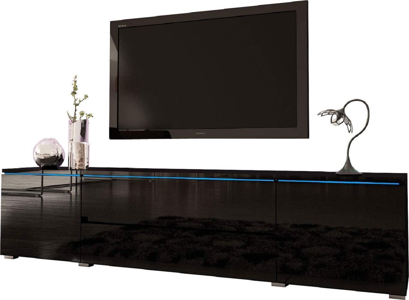 MEBLE FURNITURE RUGS Euphoria 79 Modern TV Stand Black
