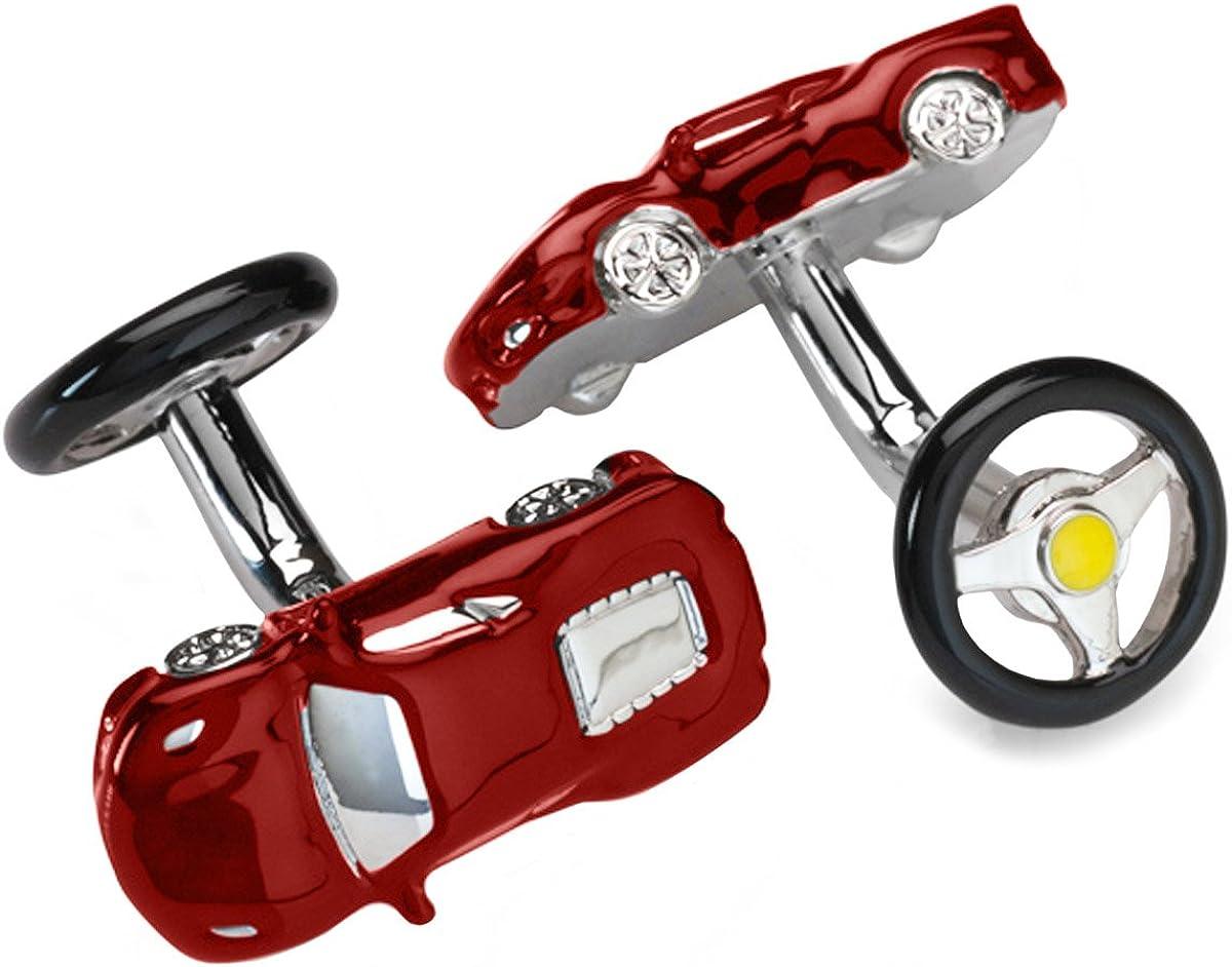 Rhodium plated Ferrari Cufflinks