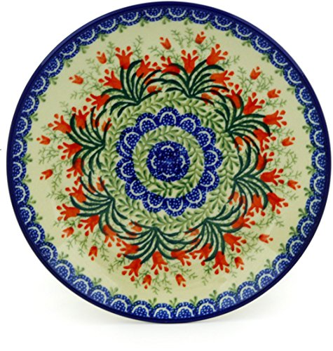 Polish Pottery Dessert Plate 8-inch Sprouting Tulips ()