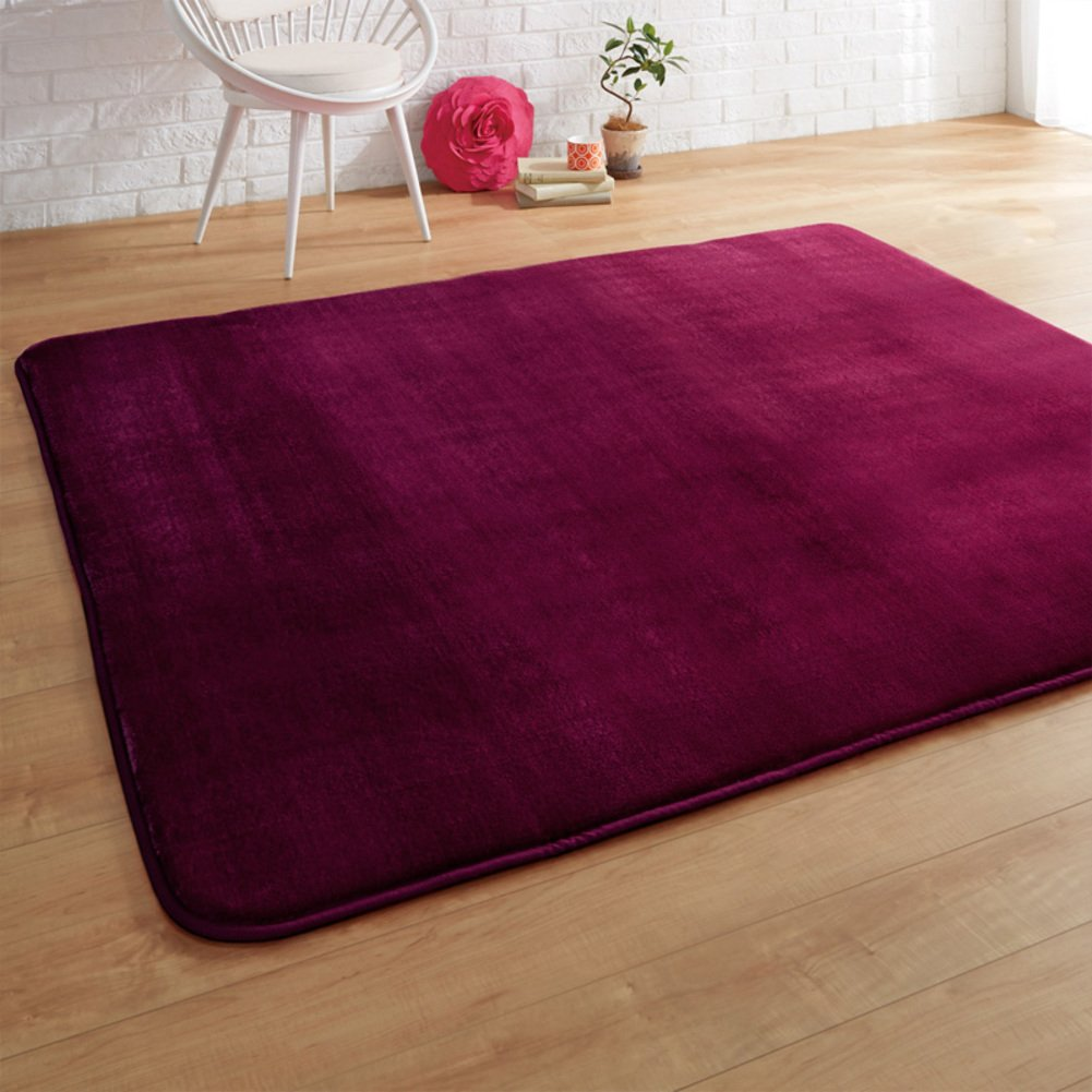DXG&FX Method velvet thickening warm pad tea table mats living room bedroom anti-sliding door mat-E 140x200cm(55x79inch) by DXG&FX