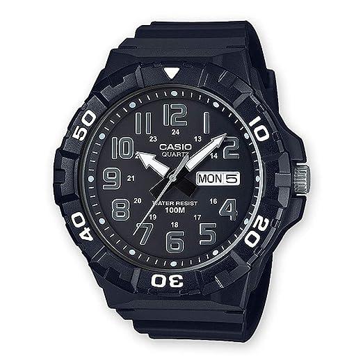 Casio Reloj Analogico para Hombre de Cuarzo con Correa en Resina MRW-210H-1AVEF: Amazon.es: Relojes