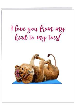 Amazon.com : Wildlife Yoga Lion - Zoo Animal Happy Birthday ...
