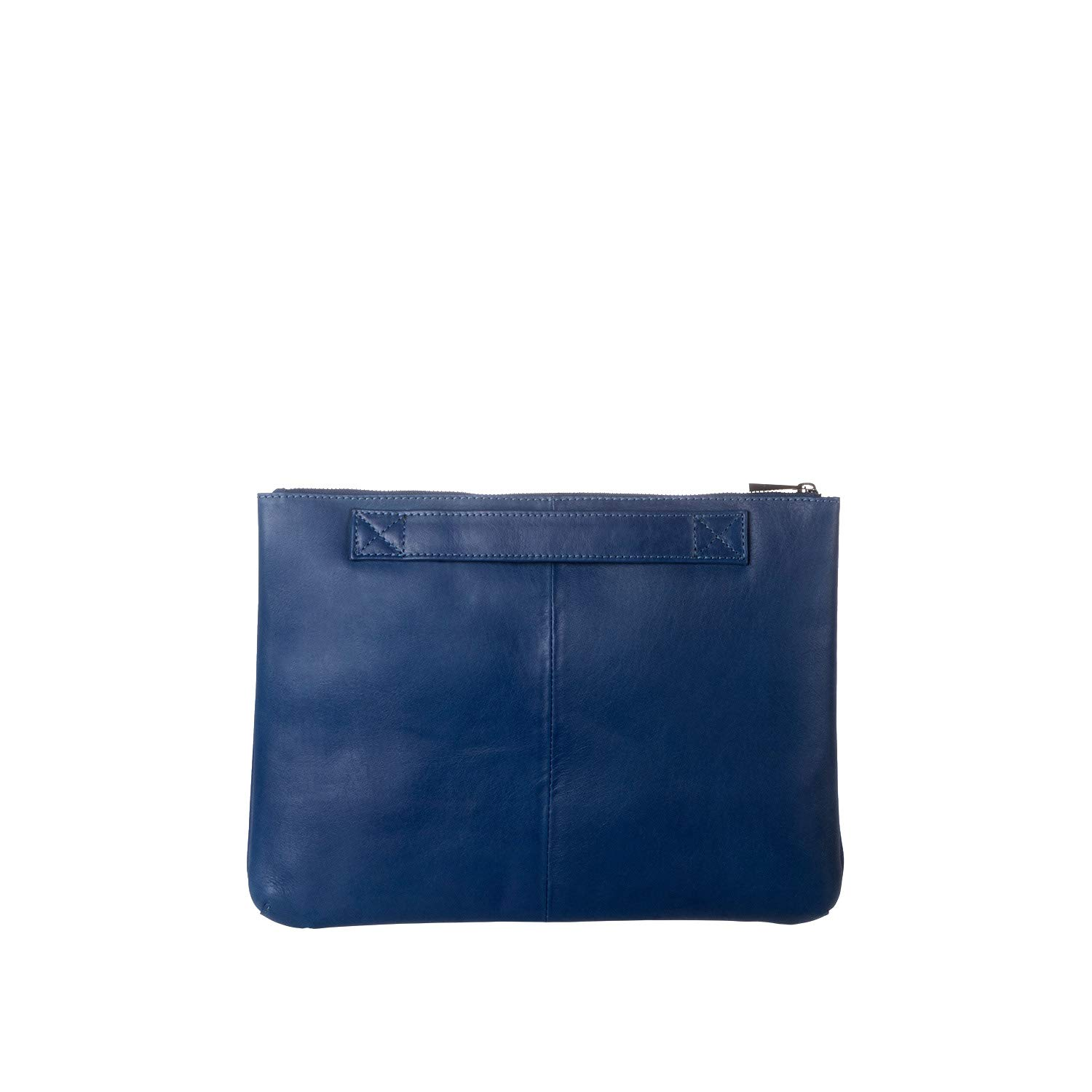DUDU Clutch Bag Purse with Handle for ladies and men in Real Leather Slim & Large Handbag with Zipper closure - Isa - Blue by DuDu (Image #4)