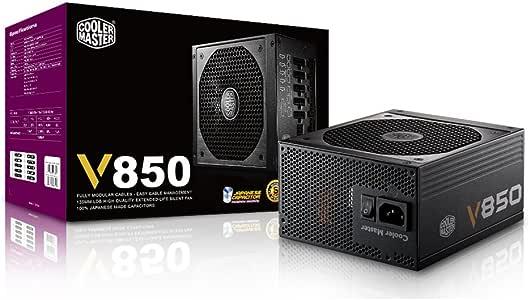 Cooler Master V850, Full Modular 80+ Gold Certified 850W Power Supply, 5 Year Warranty