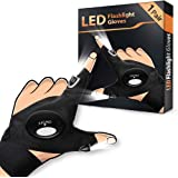 LED Flashlight Gloves 1 Pair, Men's Gifts for Dad Father, Light Gloves for Fishing Camping Repairing, LED Gloves Unique…