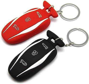 Topfit Model 3 Model S Silikon Schlüssel Abdeckung Schlüsselring Schlüsselanhänger Schlüsselanhänger Halter Für Model 3 Model S Auto