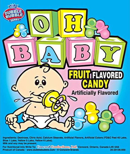 SweetGourmet Oh Baby Pacifiers Candy | Baby Shower Fruit ...