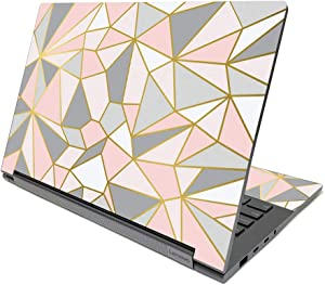 """MIGHTY SKINS Skin Compatible with Lenovo Yoga C940 14"""" (2020) - Rose Gold Polygon Protective, Durable, and Unique Vinyl Decal wrap Cover Easy to Apply, Remove, and Change Styles Made in The USA"""