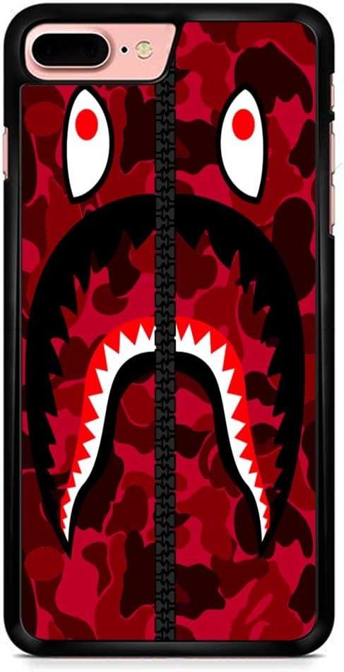 Bape Shark Red Army iPhone 7 Plus Case Black