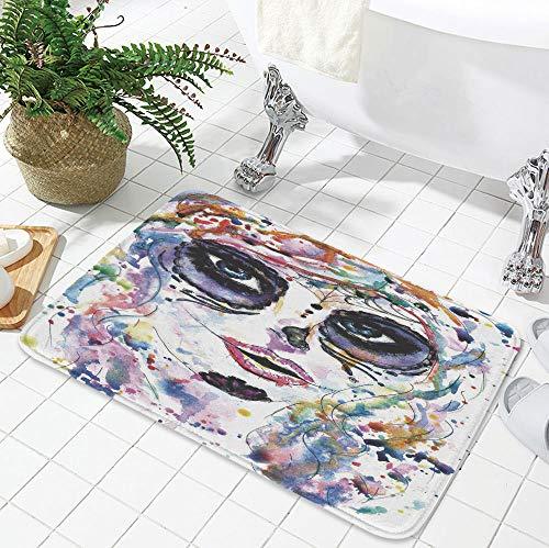 YOLIYANA Polyester Carpet,Sugar Skull Decor,for Meeting Room Dining Room,23.62