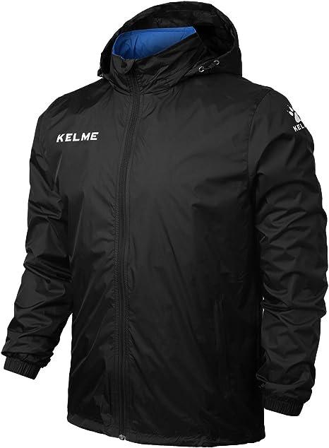 KELME - Chaqueta de Entrenamiento para Hombre, Resistente al Viento, Impermeable, Color Negro, tamaño Large: Amazon.es: Deportes y aire libre
