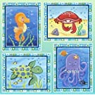"Sea Life, Ocean Animal Nursery Art Prints (5x7"", Set of Four)"
