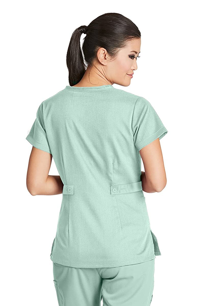 Amazon.com: Barco Women\'s Junior-Fit Three-Pocket Mock-Wrap Scrub ...