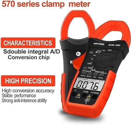 Digital Clamp Meter Bluetooth Multimeter Berührungslose Stromzange Für Multimeter Ap 570c App 4000 Counts Auto Range Ac Dc Spannung Strom Widerstand Kapazitanz Frequenz Testen Baumarkt