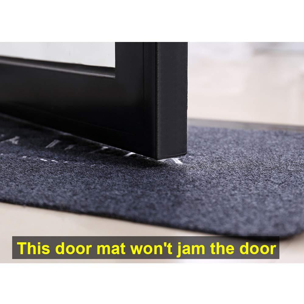 Doormat Indoor 29 x 17 inches Washable Carpet Absorbent Non Slip Door Mat for Front Door Inside Floor Dirt Trapper Mats Entrance Rug Shoes Scraper Machine(2 Pieces) Vienrose