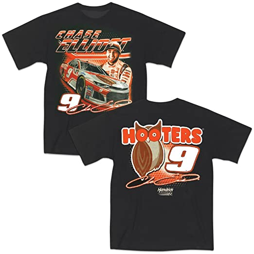 Chase Elliott T Shirt >> Amazon Com Nascar Chase Elliott 9 Hooters T Shirt Xx Large Clothing