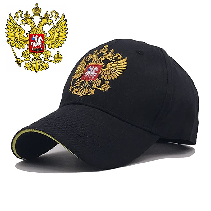 Unisex Men Women Russian Emblem Embroidery Baseball Cap Hats Patriot  Snapback (Black) a7efeff898c
