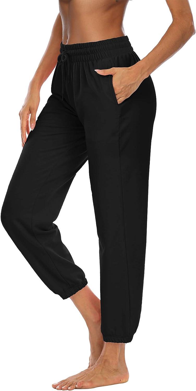 JUMPGO Womens Sweatpants Workout Yoga Athletic Lounge Pants Drawstring Waist with Pockets