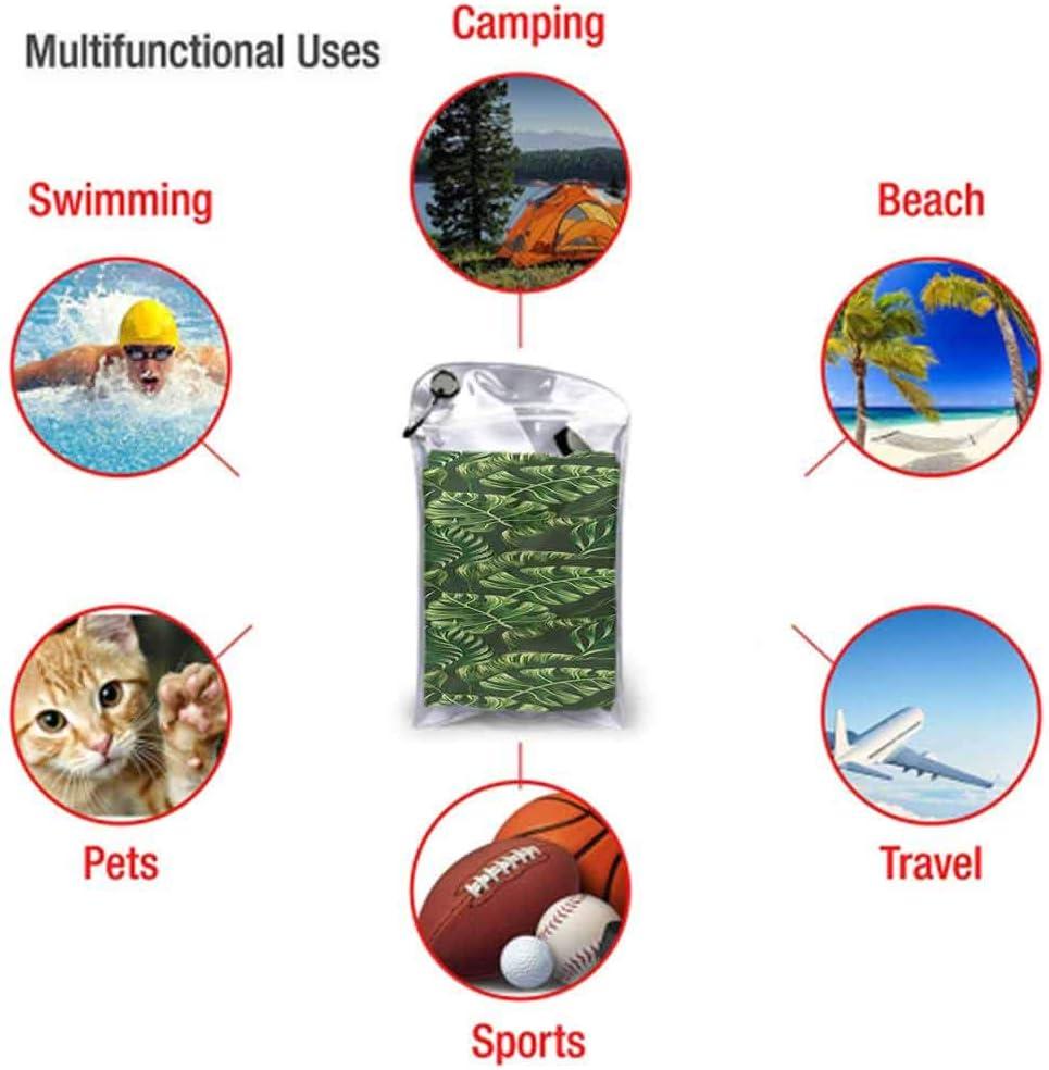 Ahuimin Microfiber Beach Towel 27.5 x 55 Microfiber Beach Towel Pool Quick Dry Bath Towels Soft Absorbent for Beach,Pool,Spa,Bath,Swim,Travel,Vacation Hunter Green,Swirled Classic Petals