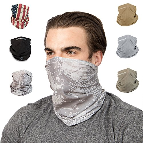 Tundra Gaiter - Terra Kuda Face Clothing Neck Gaiter Mask – Non Slip Light Breathable for Sun Wind Dust Bandana Balaclava (Tundra Camo)