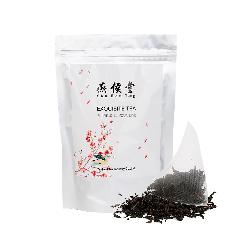Yan Hou Tang Organic Taiwan Red Jade Oolong Black Tea Bags - 20 Counts Full Loose Leaf Honey Coffee Flavor Taste Sugar Free Formosa High Mountain Wulong for relaxation and stress reduction relief