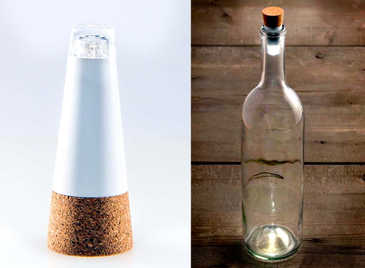 3 PACK Wine Bottle Light Cork