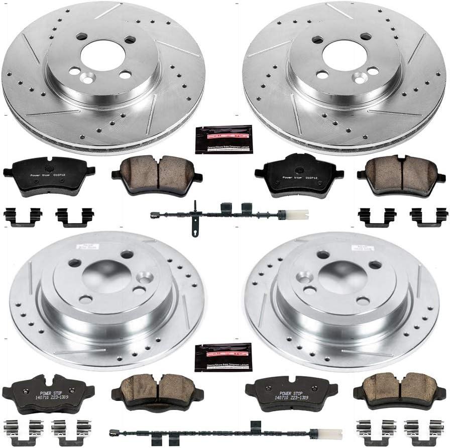 Power Stop Z23-540 Z23 Evolution Sport Carbon-Fiber Ceramic Rear Brake Pads