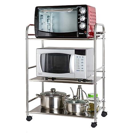 Amazon.com: Soporte para horno de microondas con rueda ...